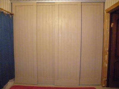 двери шкафа-купе из вагонки своими руками