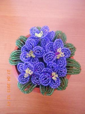 Схемы. Цветы. Фиалки. Плетение