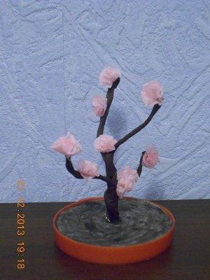 Сакура из бумаги и проволоки - искусственные, бумажные цветочки своими руками. Инструкция по изготовлению, описание