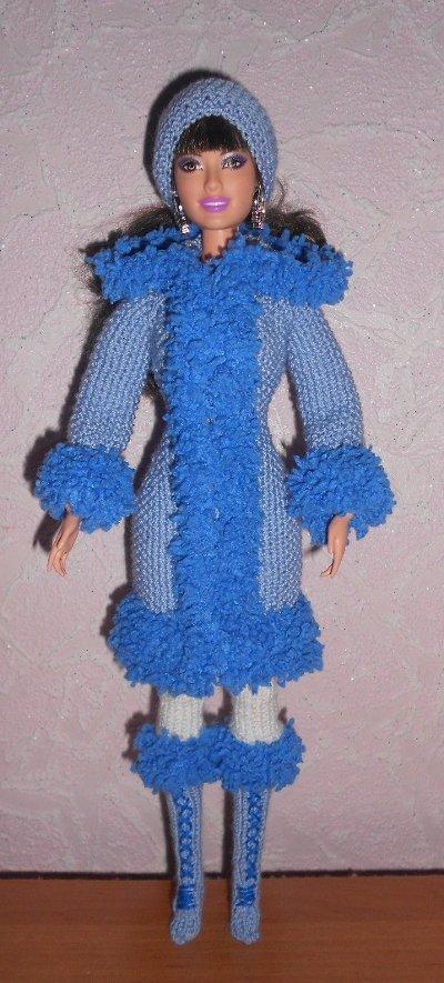 Вязание крючком пальто для барби 79