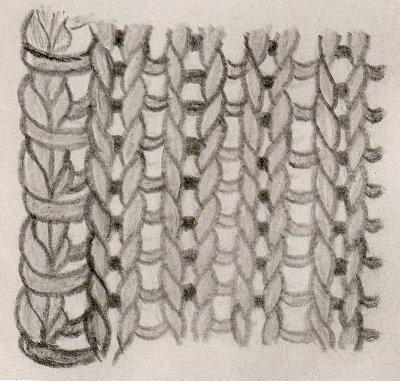 Вязание - самоучитель. Крайние, краевые петли. Узелковый край